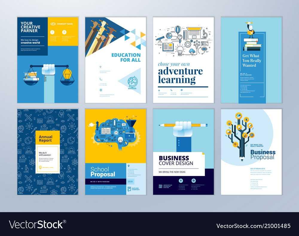 Set Of Brochure Design Templates Of Education Regarding School Brochure Design Templates