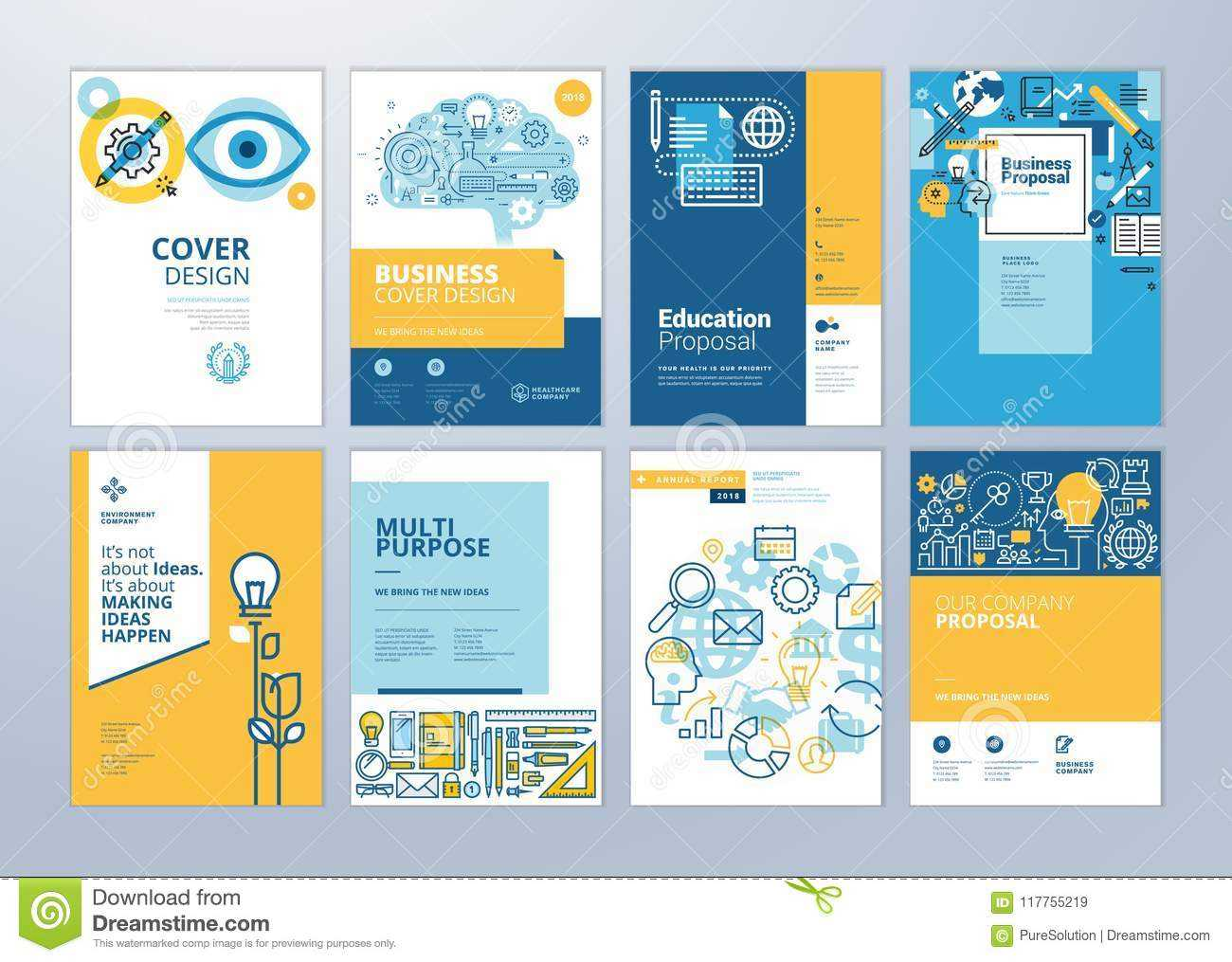 Set Of Brochure Design Templates On The Subject Of Education Intended For School Brochure Design Templates
