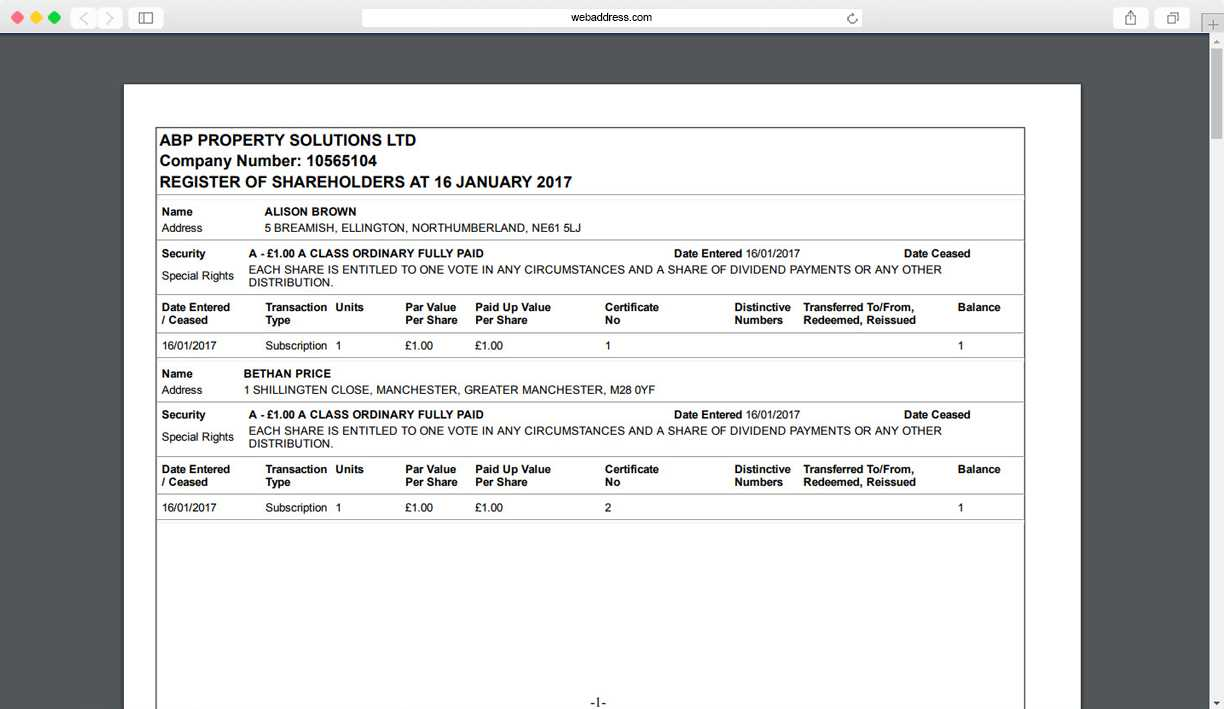 Share Certificates | Thecompanywarehouse.co.uk Within Share Certificate Template Companies House