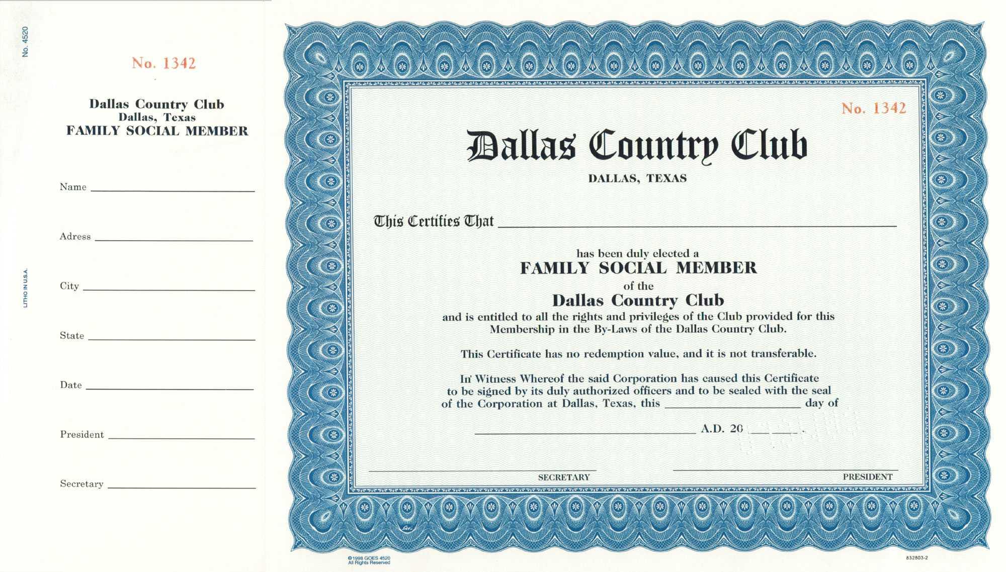 Shareholder Certificate Template. 4+ Share Certificate In Llc Membership Certificate Template Word