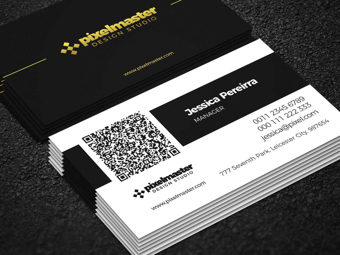 Simple Business Card With Qr Codenisa Toon On Dribbble In Qr Code Business Card Template