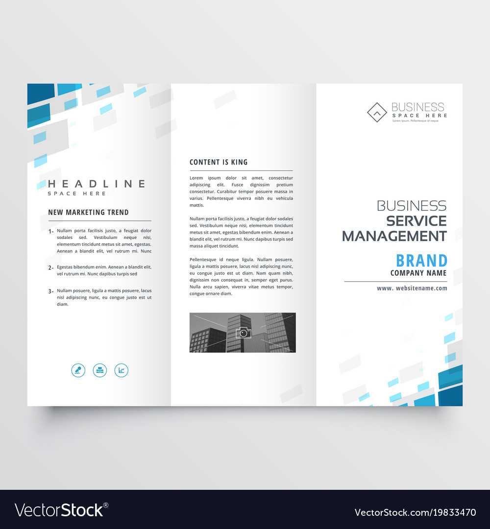 Simple Trifold Business Brochure Template Design For One Page Brochure Template