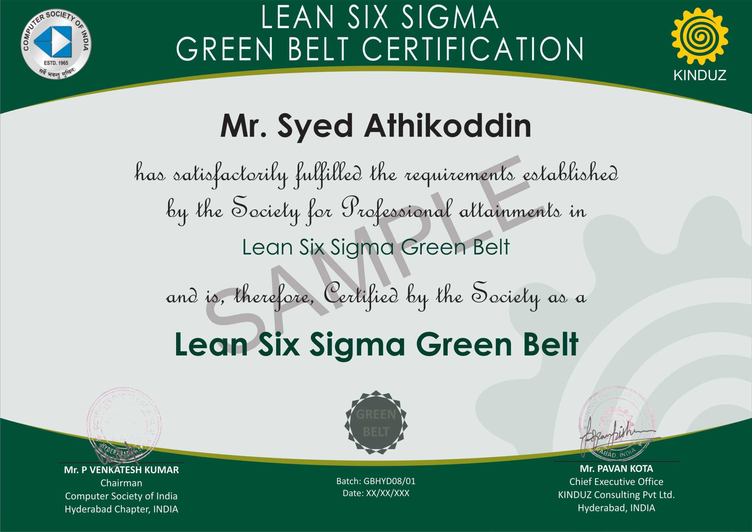 Six Sigma Black Belt Certificate Template Free Design Green Pertaining To Green Belt Certificate Template