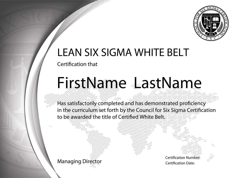 Six Sigma Green Belt Training & Certification In Healthcare Inside Green Belt Certificate Template