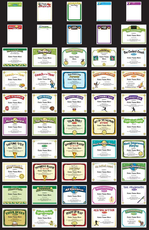 Softball Certificates - Free Award Certificates Pertaining To Softball Award Certificate Template