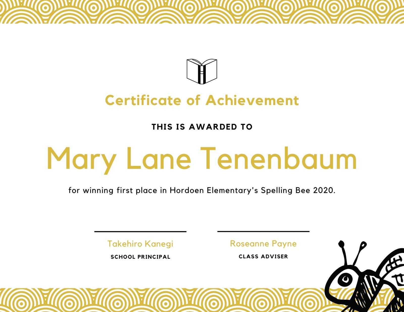Spelling Bee Fun Certificate - Templatescanva In Spelling Bee Award Certificate Template