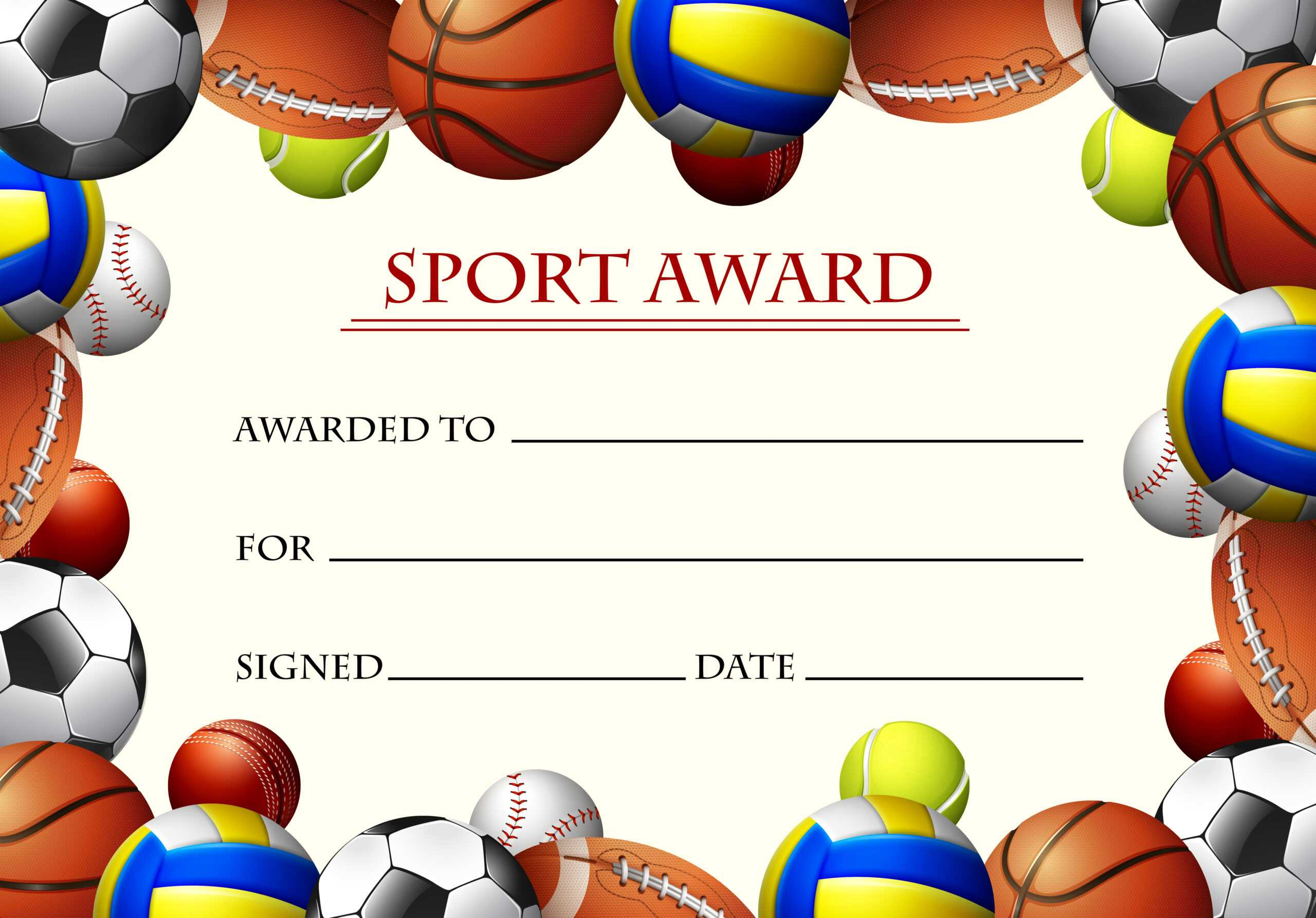 Sports Certificate Free Vector Art - (171 Free Downloads) In Sports Day Certificate Templates Free