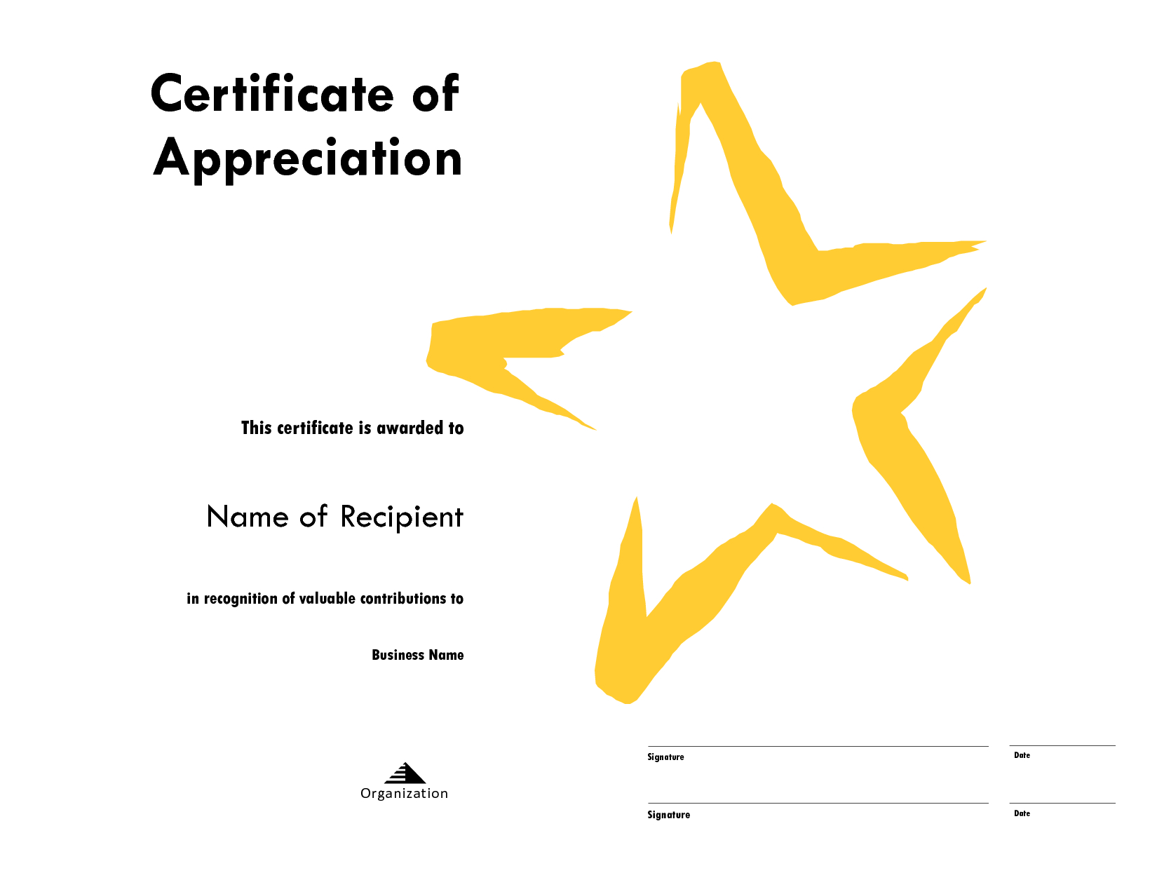Star Certificate Templates Free - Karan.ald2014 Within Star Certificate Templates Free