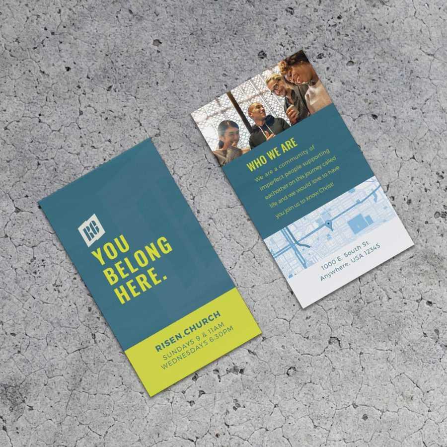 Surge City Invite Cards - Church Creative Works - Church For Church Invite Cards Template