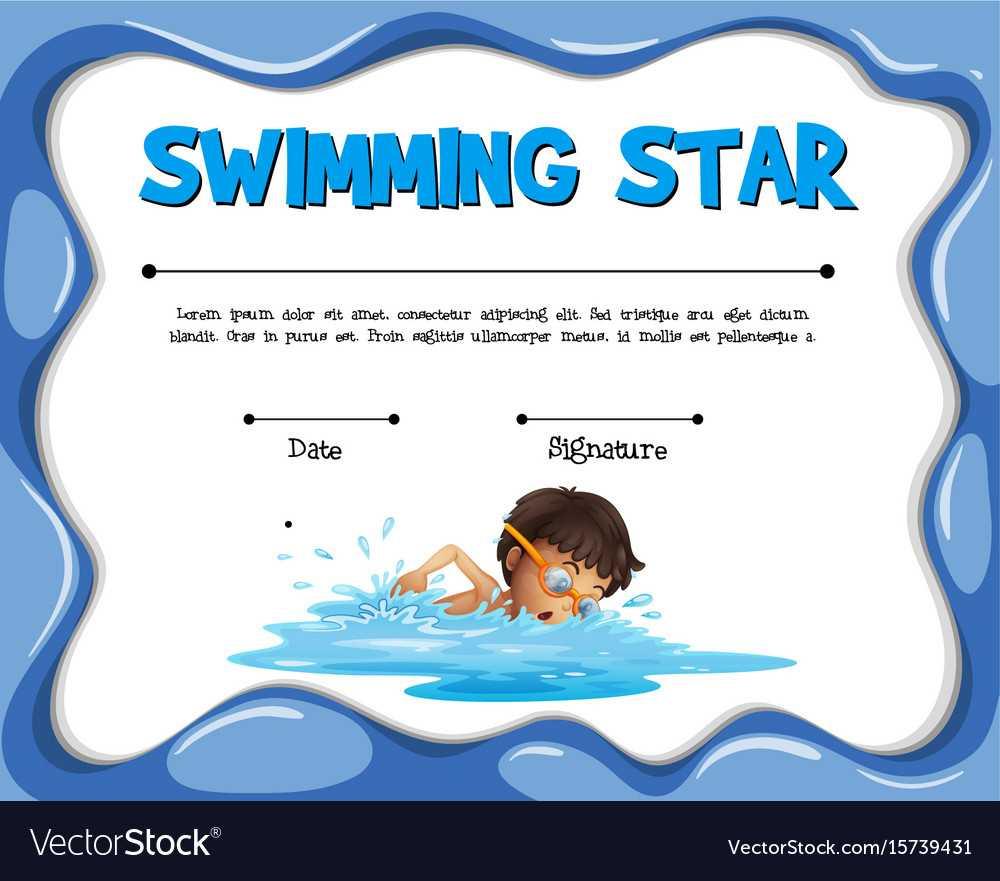Swimming Certificates Template - Karati.ald2014 Within Free Swimming Certificate Templates