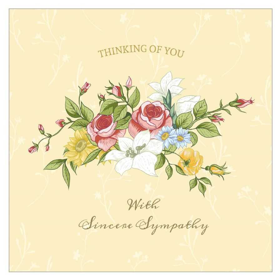 Sympathy Card To Print - Barati.ald2014 Intended For Sympathy Card Template