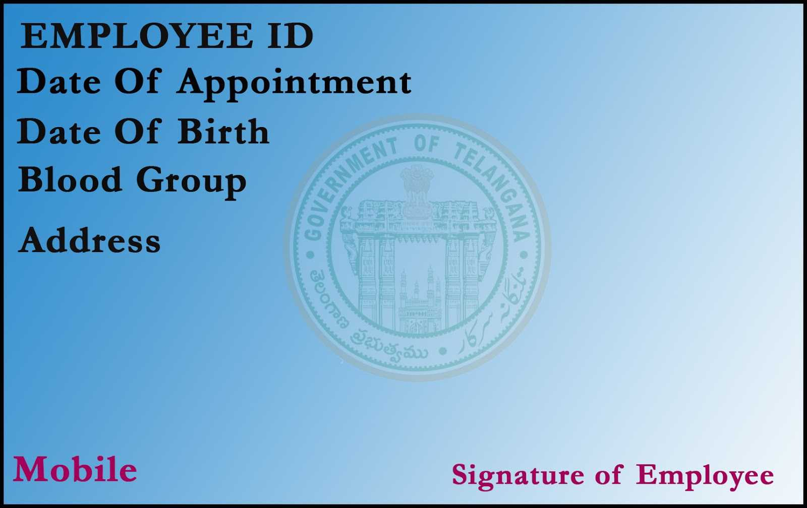 T R C : Employee Id Card Template With Employee Card Template Word