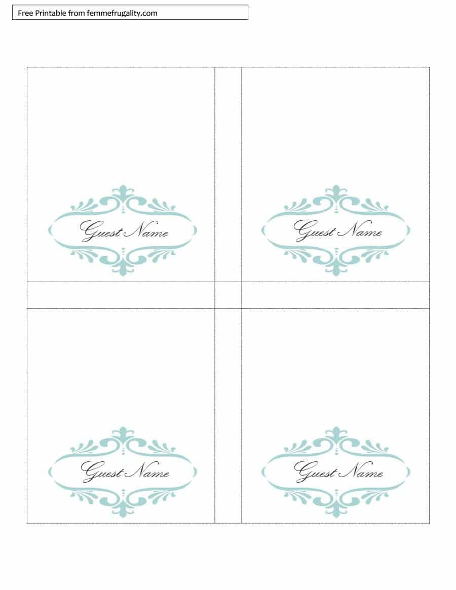 Table Tent Template Download – Karan.ald2014 Pertaining To Free Printable Tent Card Template