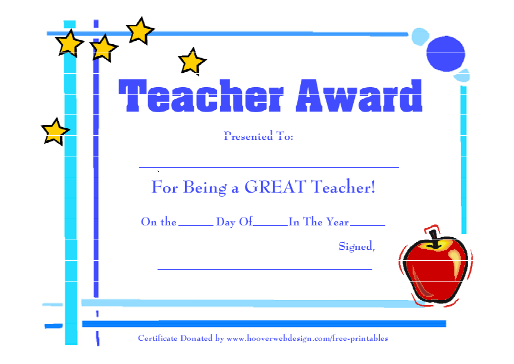 Teacher Awards 9 New Certificat Templates With Best Teacher Certificate Templates Free