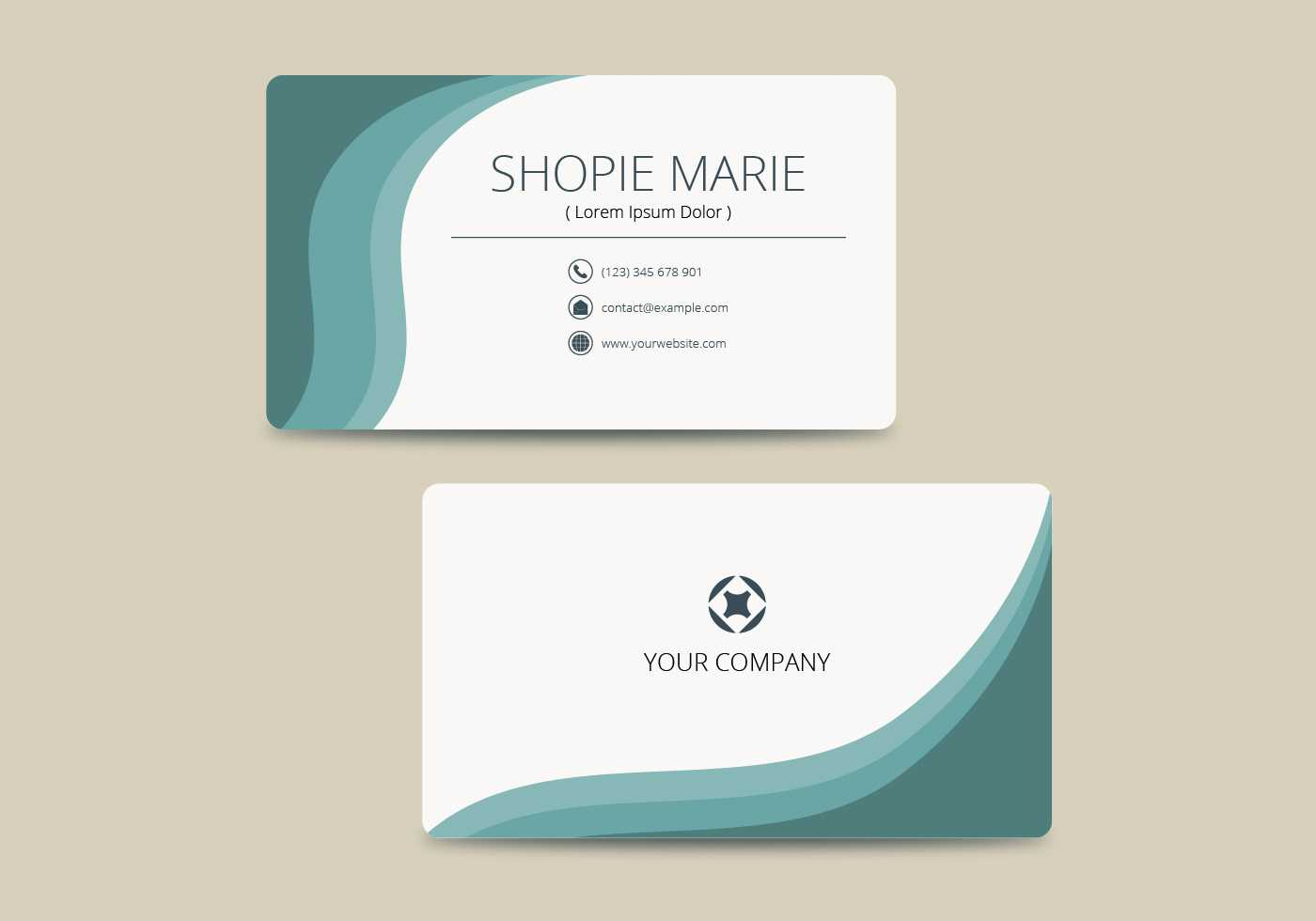 Teal Business Card Template Vector - Download Free Vectors For Buisness Card Template
