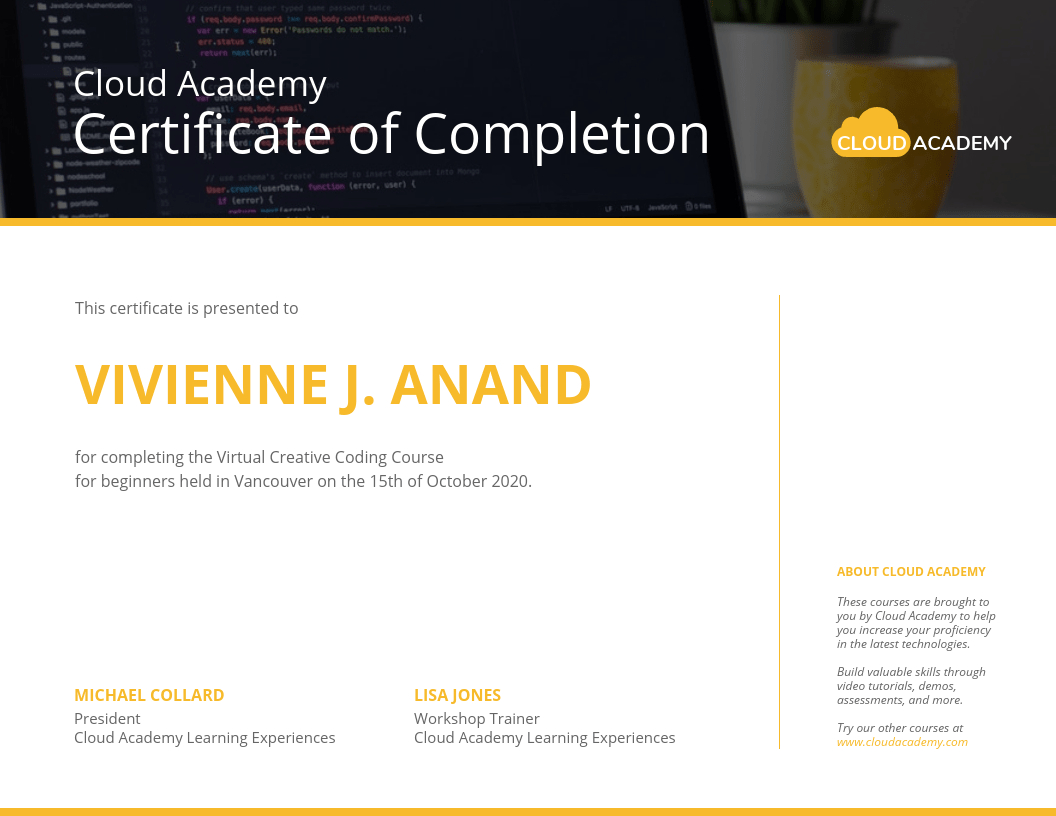 Technology Certificate Template For Workshop Certificate Template