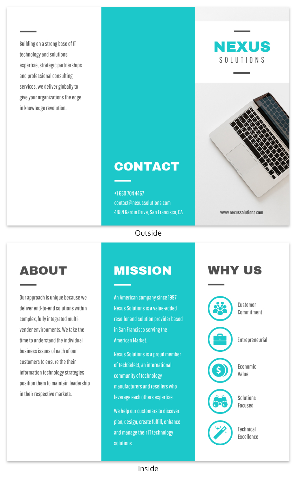 Technology Tri Fold Brochure Template Intended For Technical Brochure Template