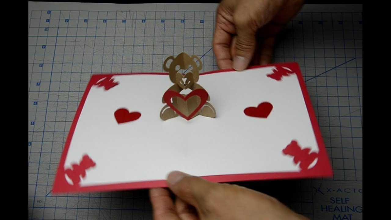 Teddy Bear Pop Up Card: Tutorial With Regard To Teddy Bear Pop Up Card Template Free