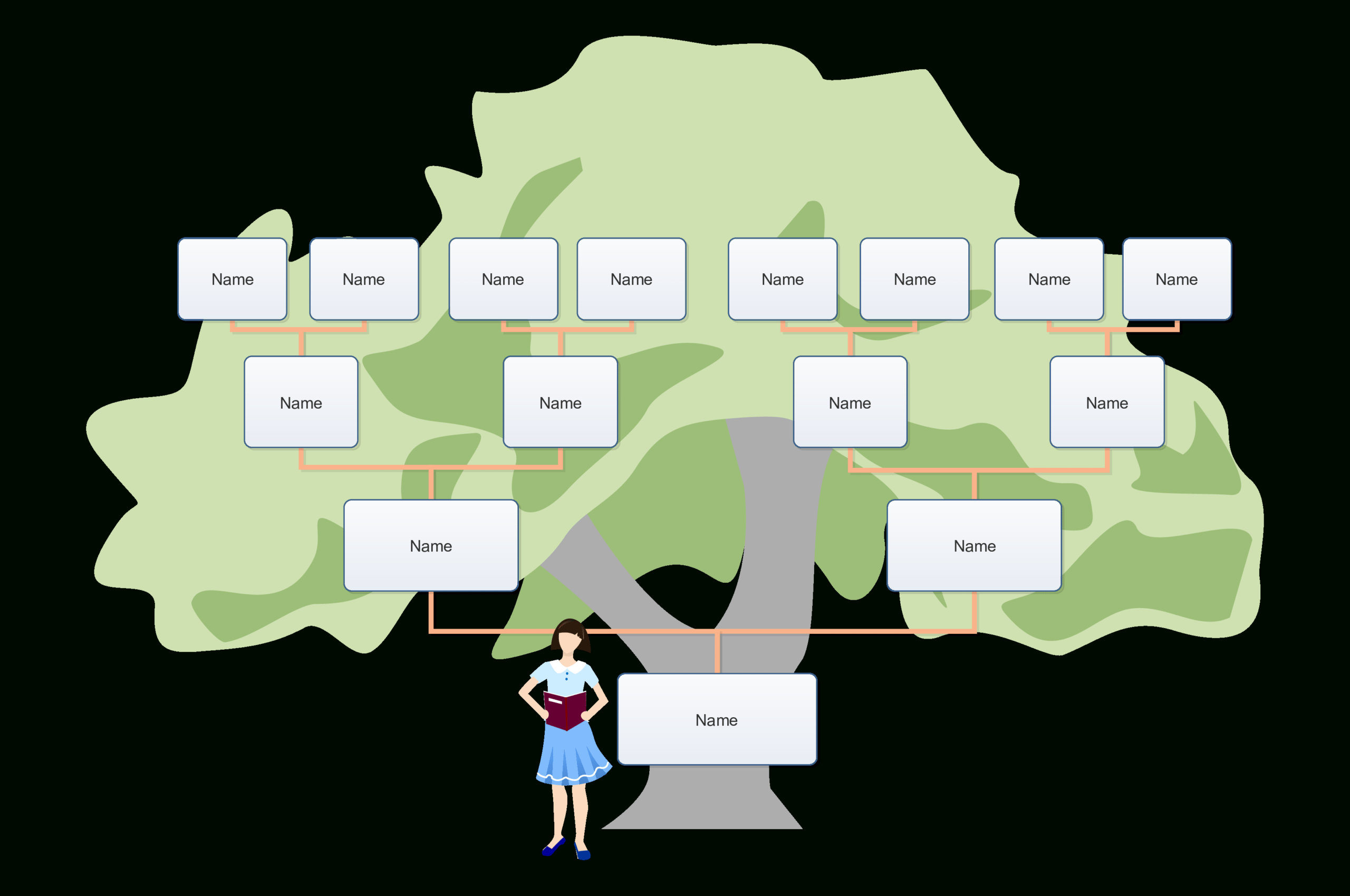 Télécharger Gratuit Blank Family Tree For Kids Throughout Powerpoint Genealogy Template