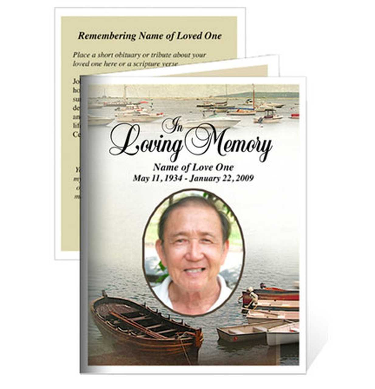 Template For Memorial Card - Karan.ald2014 With Remembrance Cards Template Free