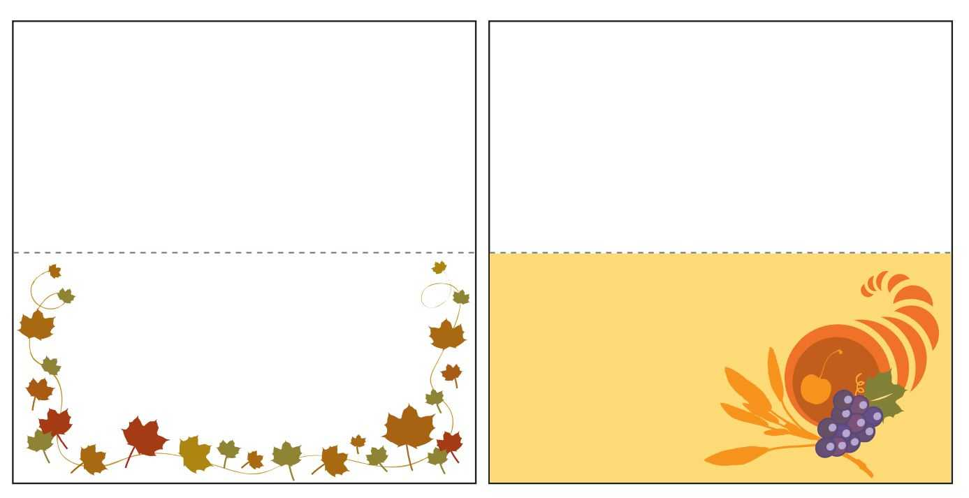 Thanksgiving Place Card Templates Gallery - Free Templates Ideas Throughout Thanksgiving Place Card Templates