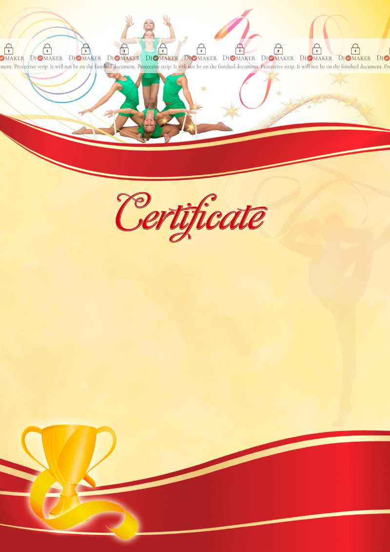 The Certificate Template «Rhythmic Gymnastics» - Dimaker For Gymnastics Certificate Template