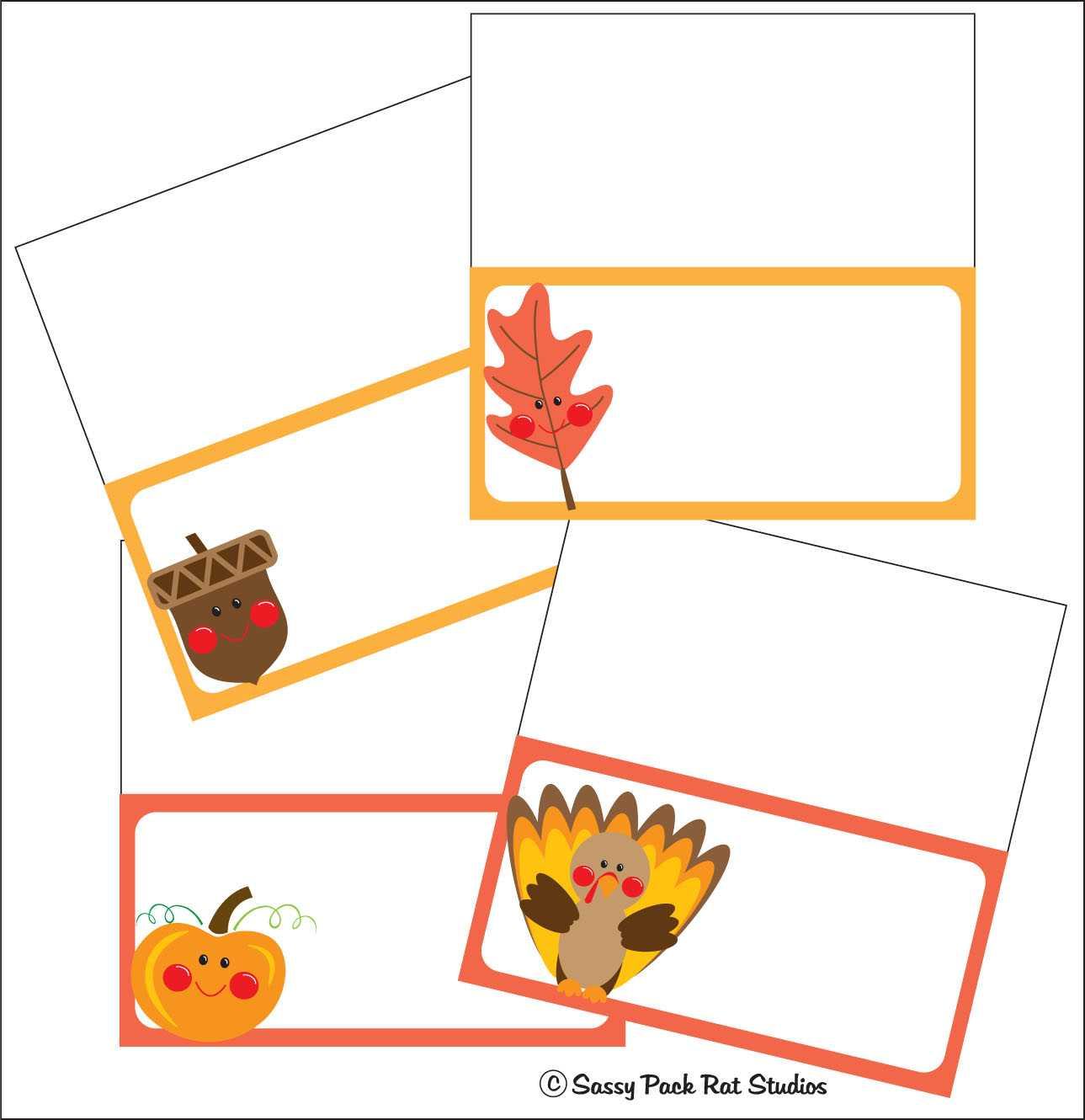 The Sassy Pack Rat: Thanksgiving Place Card Printable Freebie Regarding Thanksgiving Place Card Templates