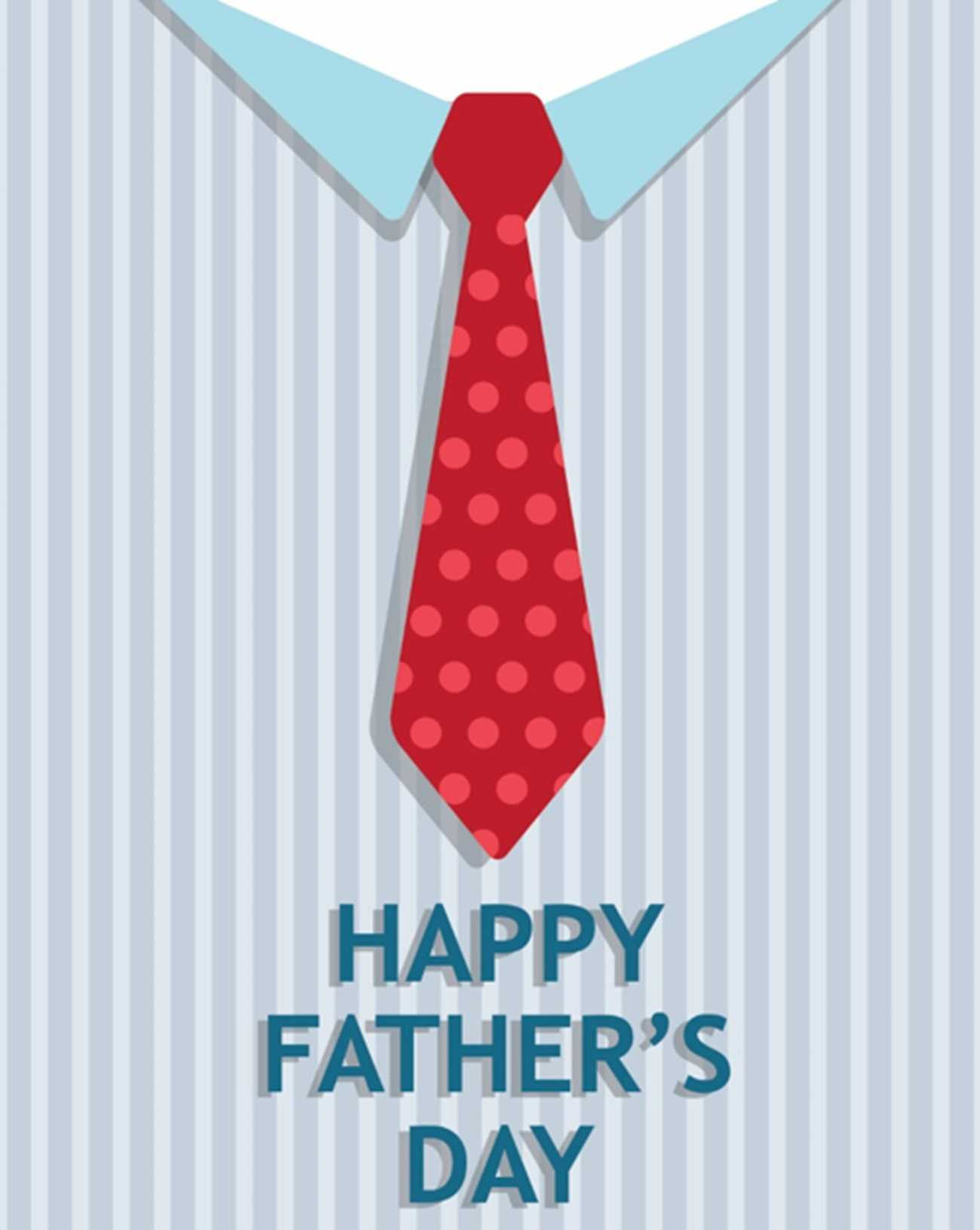 Tie Father's Day Card (Quarter Fold) Intended For Quarter Fold Card Template