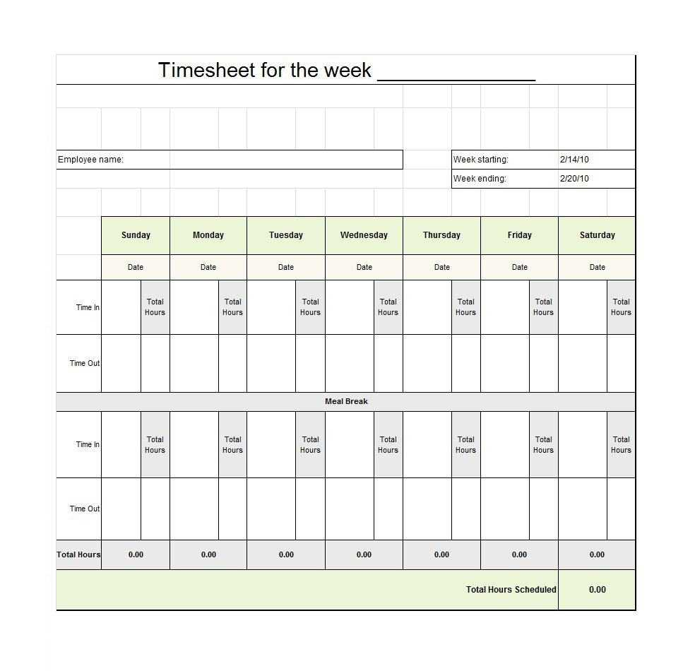 Time Card Spreadsheet Timesheet Template Tracking Google Regarding Weekly Time Card Template Free