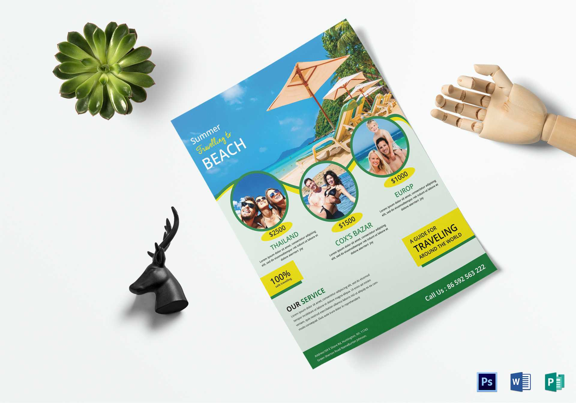 Travel Brochure Design - Tourism Company And Tourism With Regard To Word Travel Brochure Template