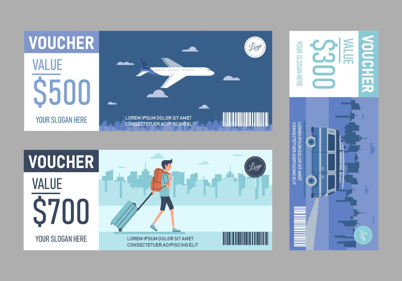 Travel Voucher Free Vector Art - (35 Free Downloads) Pertaining To Free Travel Gift Certificate Template