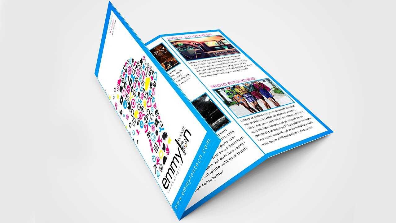 Tri Fold Brochure Design Layout | Adobe Illustrator (#speedart) In Adobe Illustrator Tri Fold Brochure Template