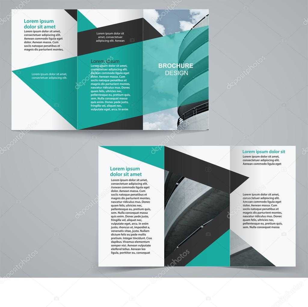 Tri Fold Business Brochure Template, Two Sided Template In Double Sided Tri Fold Brochure Template