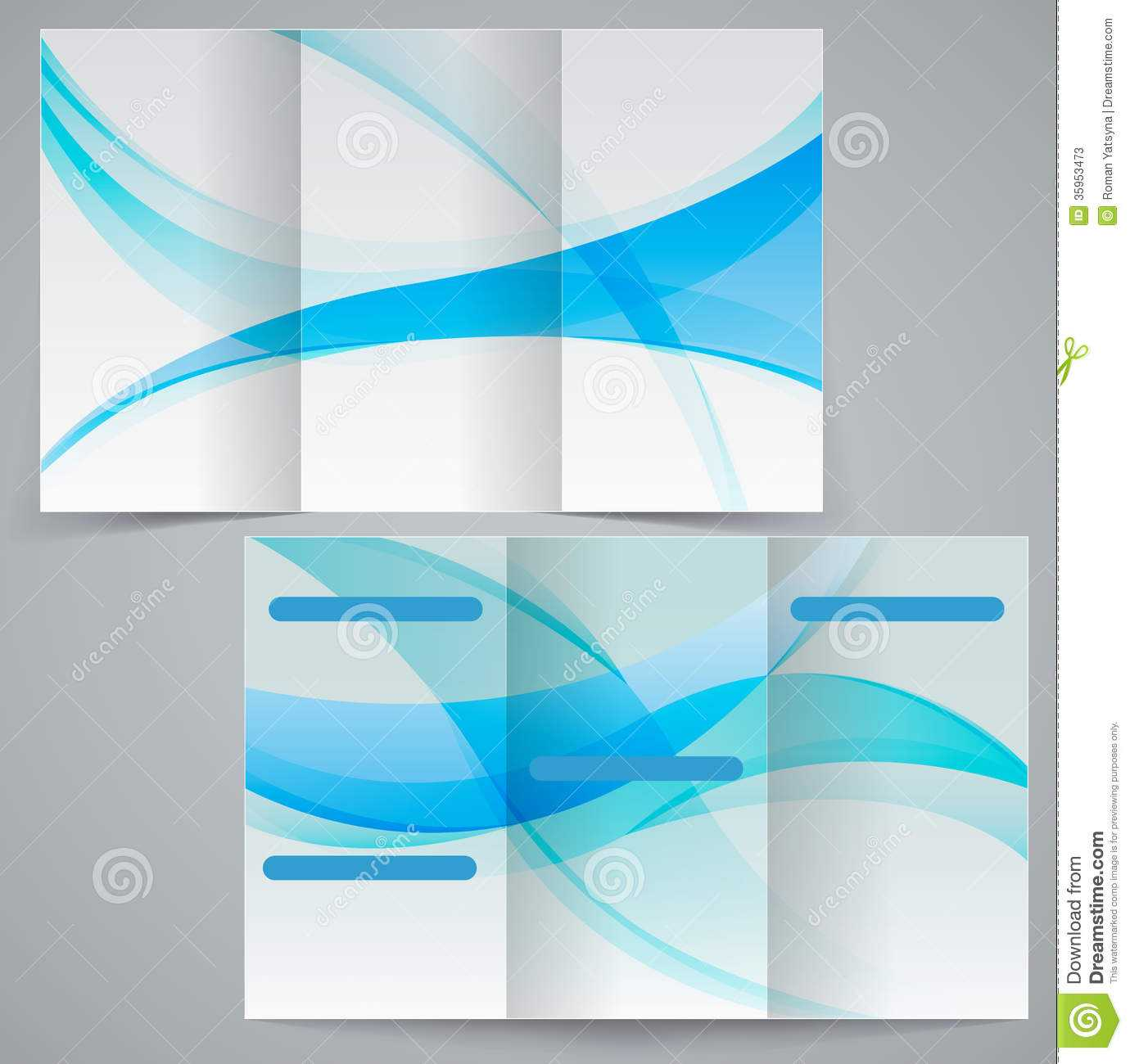 Tri Fold Business Brochure Template, Vector Blue D Stock Pertaining To Free Tri Fold Brochure Templates Microsoft Word