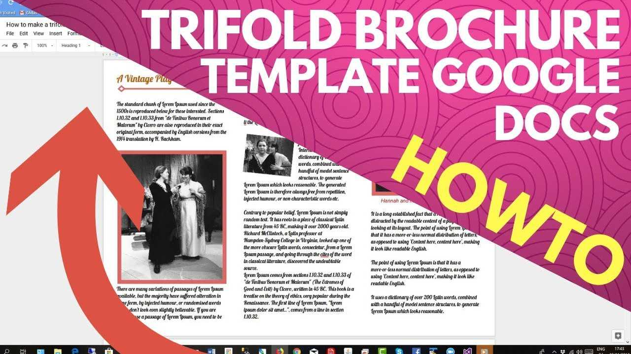 Trifold Brochure Template Google Docs For Google Drive Brochure Template