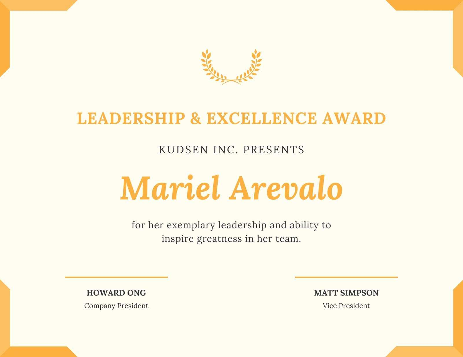 Trophy Leadership Award Certificate - Templatescanva With Regard To Leadership Award Certificate Template