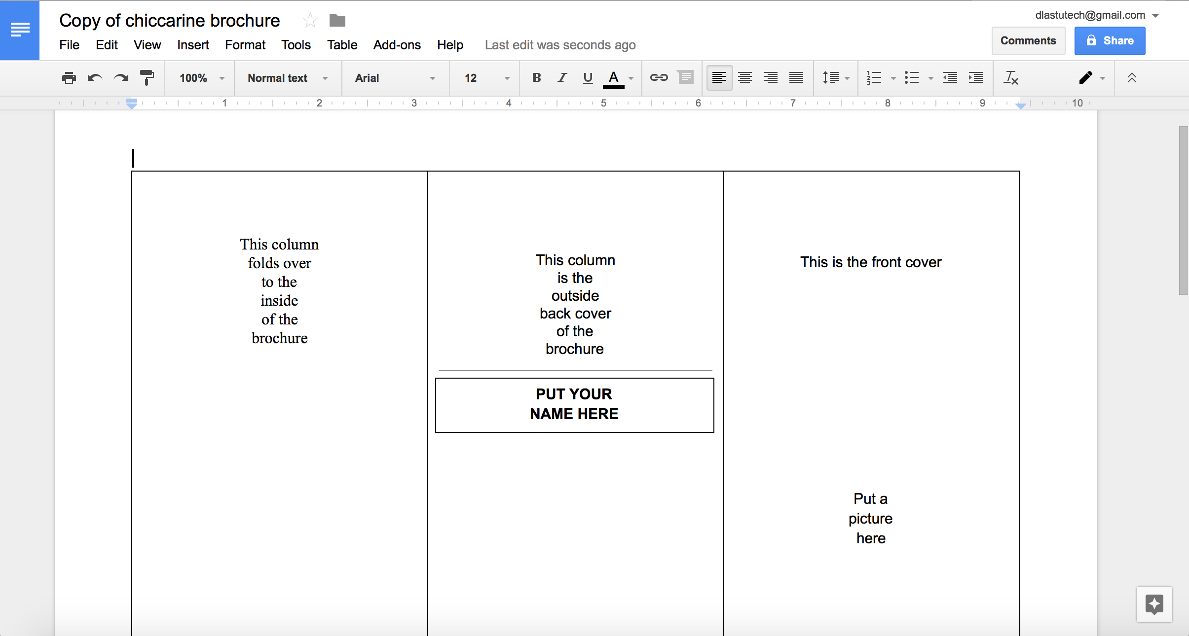 Tutorial: Making A Brochure Using Google Docs From A Pertaining To Brochure Templates Google Docs