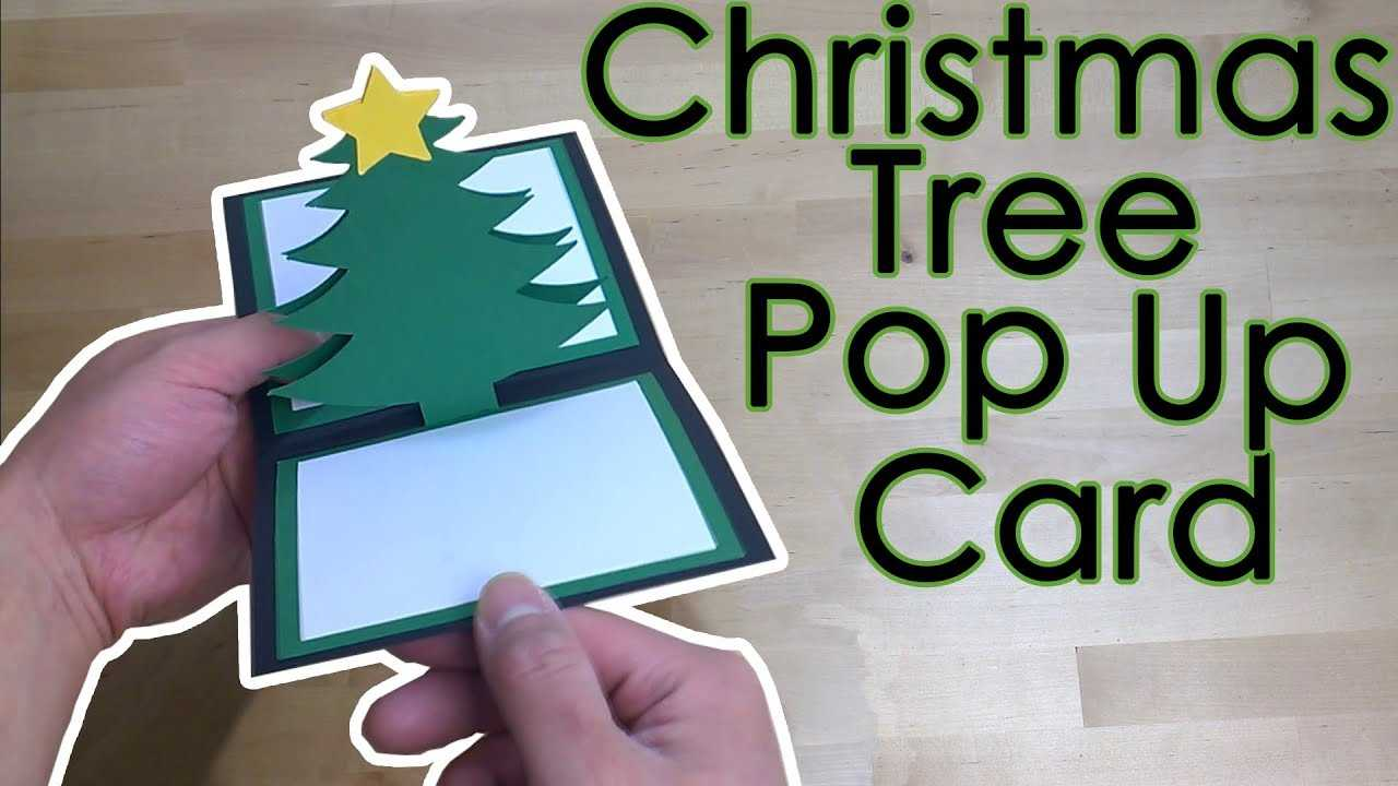 [Tutorial + Template] *free* Christmas Star Tree Pop Up Greeting Card With Pop Up Tree Card Template