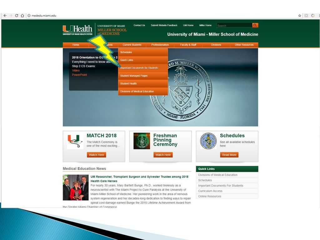 University Of Miami Miller School Of Medicine - Ppt Download For University Of Miami Powerpoint Template