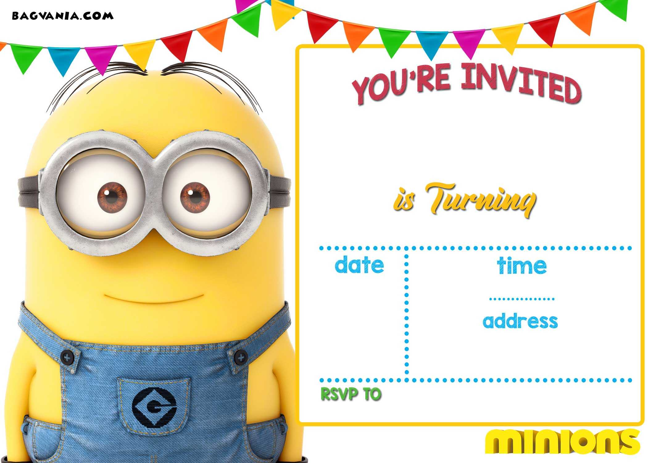 Updated! Bunch Of Minion Birthday Party Invitations Ideas in Minion Card Template