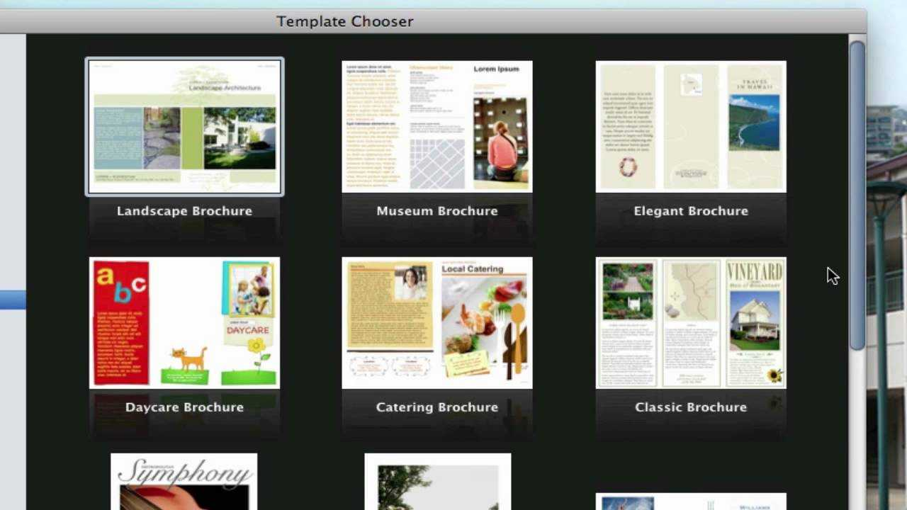 Use Pages On Macs To Create A Pamphlet (View Description) In Mac Brochure Templates