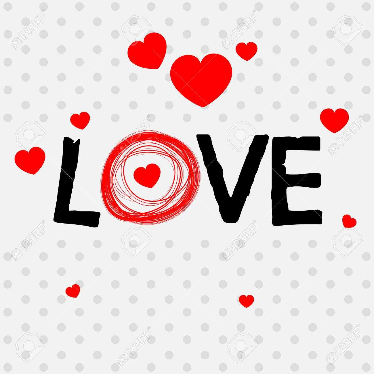 Valentine Card Template With Word Love Illustration In Valentine Card Template Word