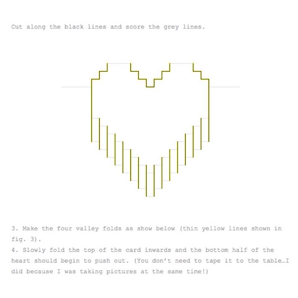 Valentines Day Pixelated Popup Cardlindsey Holmes - Musely Within Pixel Heart Pop Up Card Template