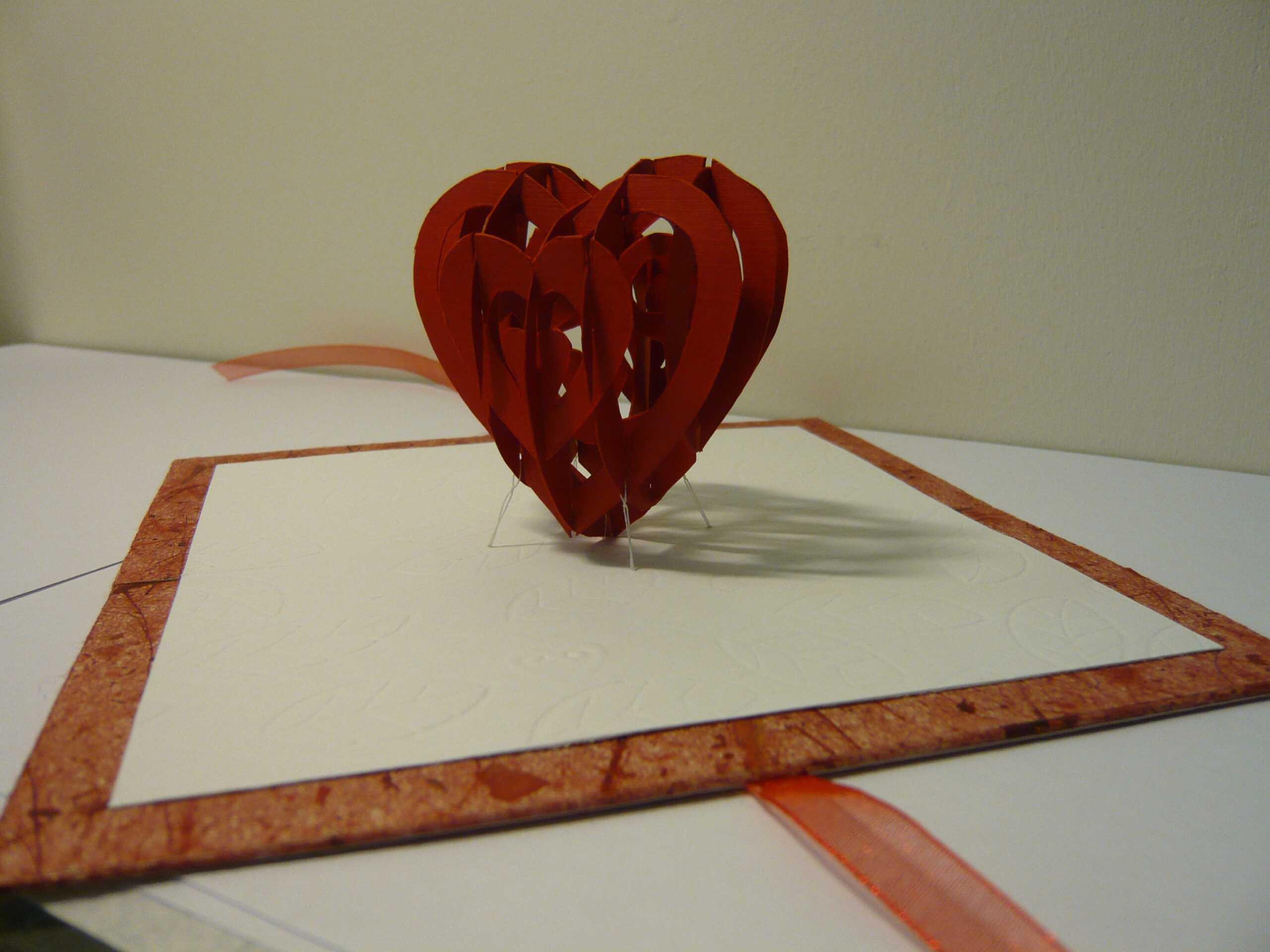 Valentine's Day Pop Up Card: 3D Heart Tutorial - Creative Inside 3D Heart Pop Up Card Template Pdf