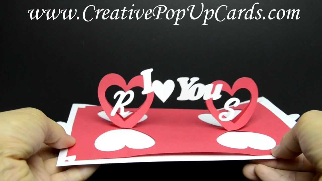Valentines Day Pop Up Card: Twisting Hearts With Twisting Hearts Pop Up Card Template