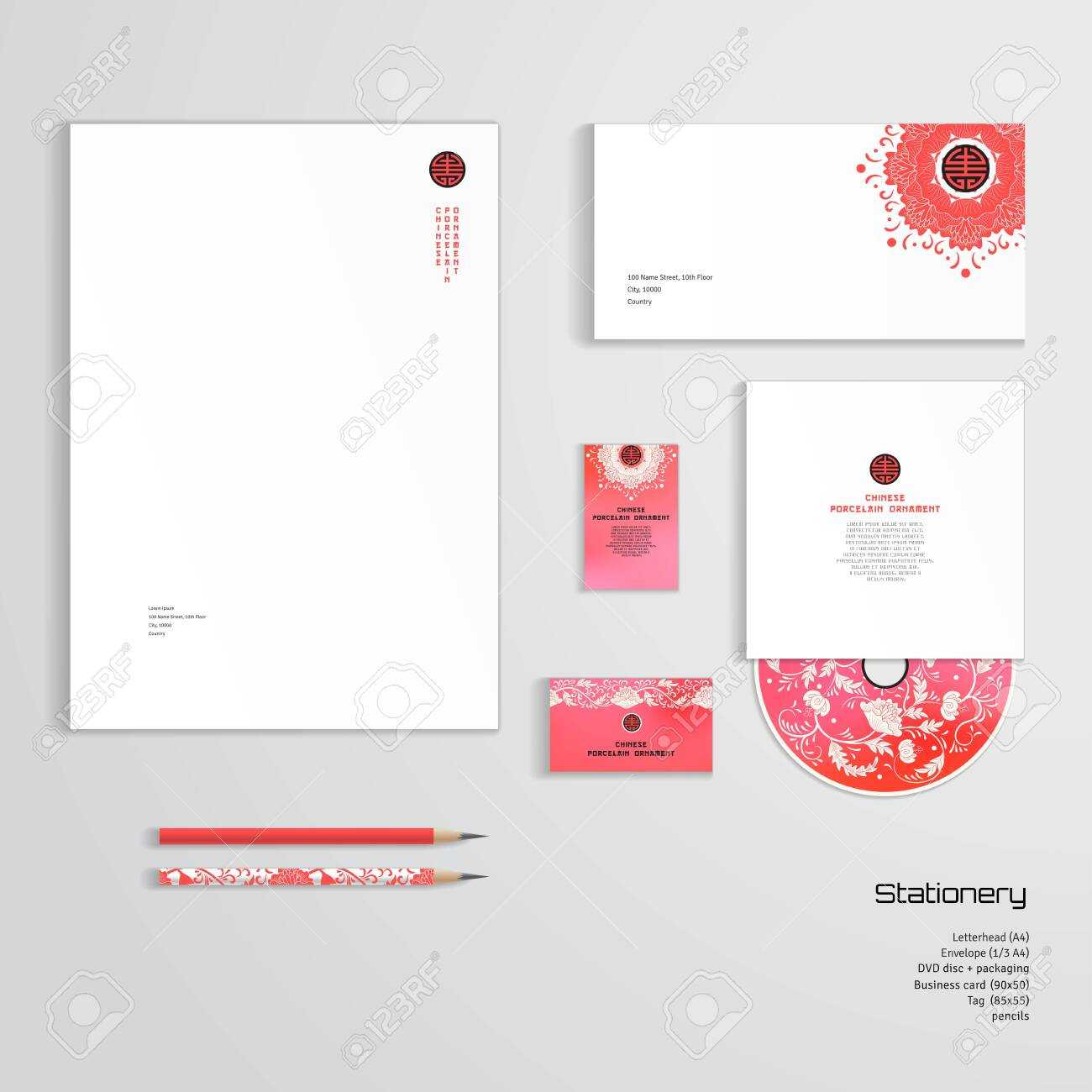 Vector Identity Templates. Letterhead, Envelope, Business Card,.. Inside Business Card Letterhead Envelope Template