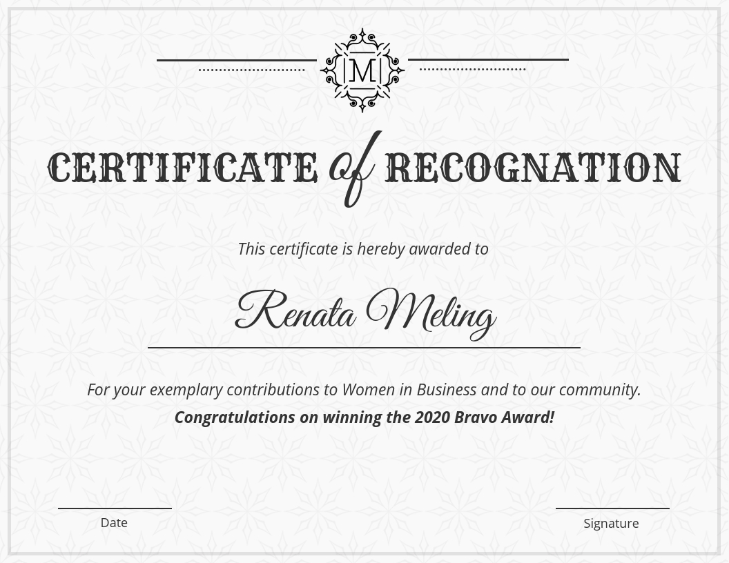 Vintage Certificate Of Recognition Template Within Volunteer Of The Year Certificate Template