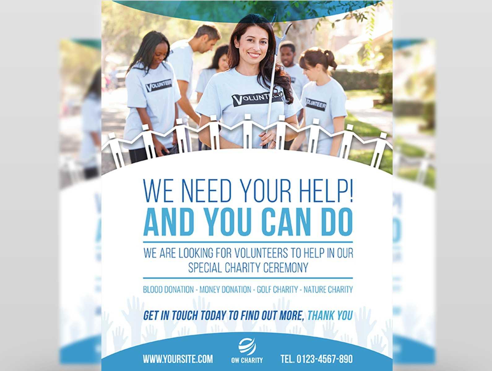 Volunteer Flyer Templateowpictures On Dribbble Pertaining To Volunteer Brochure Template