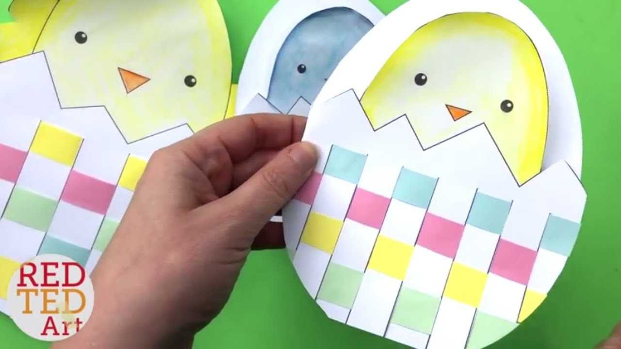 Weaving Chick Cards With Template - Easy Easter Card Diy Ideas Throughout Easter Card Template Ks2