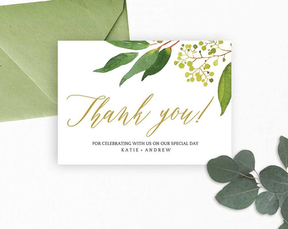 Wedding Thank You Card Editable Template – Free Print For Template For Wedding Thank You Cards